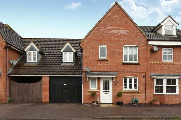 3 Bedrooms Terraced House for sale in Sandleford Drive, Elstow, Bedford