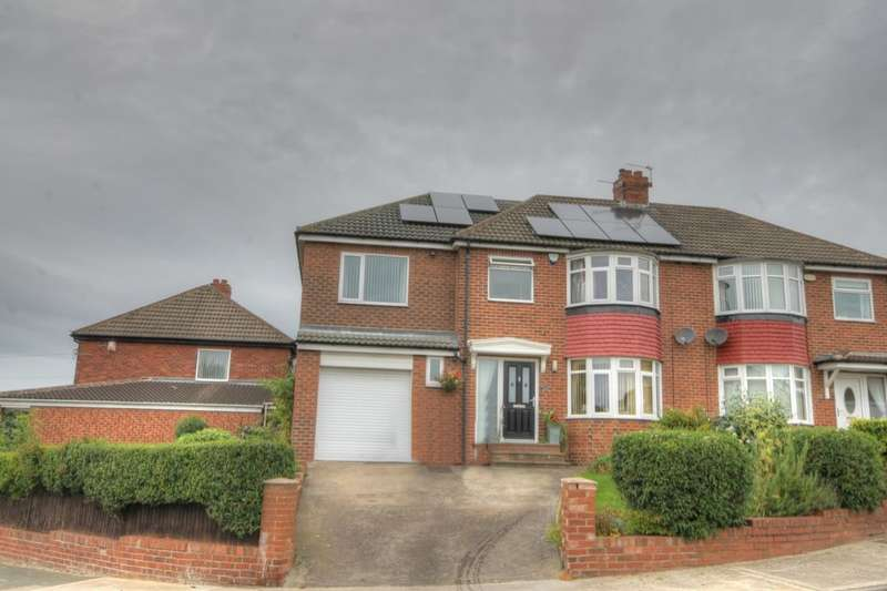 4 Bedrooms Semi Detached House for sale in Styford Gardens, South West Denton, Newcastle Upon Tyne, NE15
