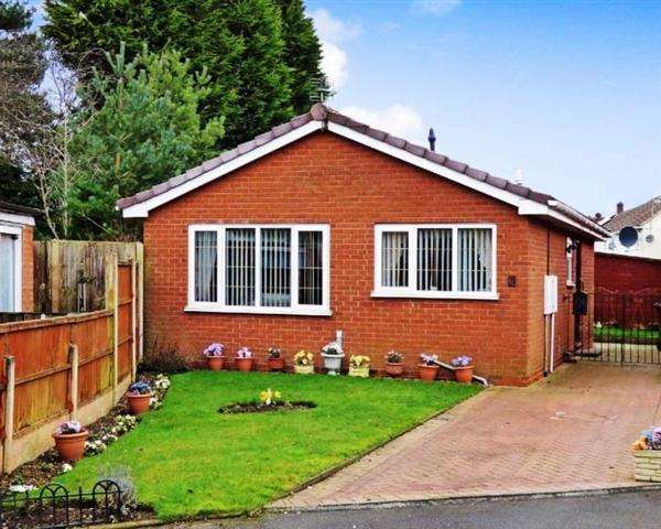 2 Bedrooms Detached Bungalow for sale in Wordsworth Close, Cannock