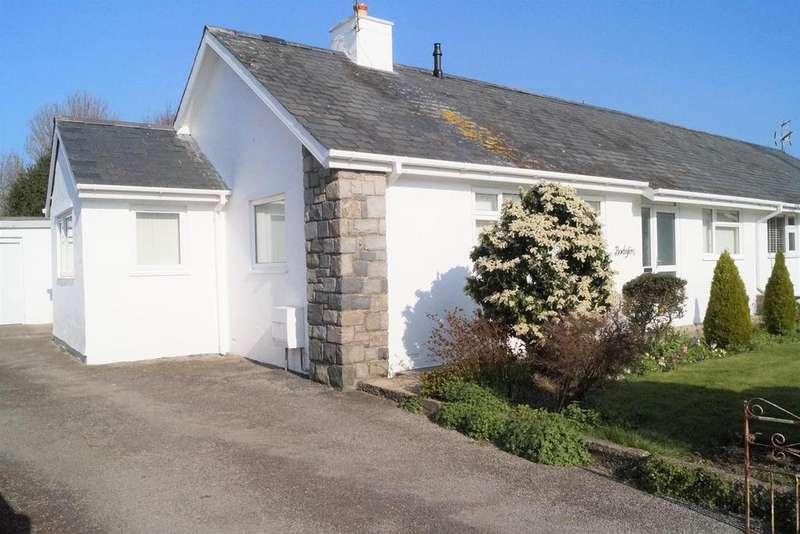 2 Bedrooms Semi Detached Bungalow for sale in Glanerch, Abererch, Pwllheli