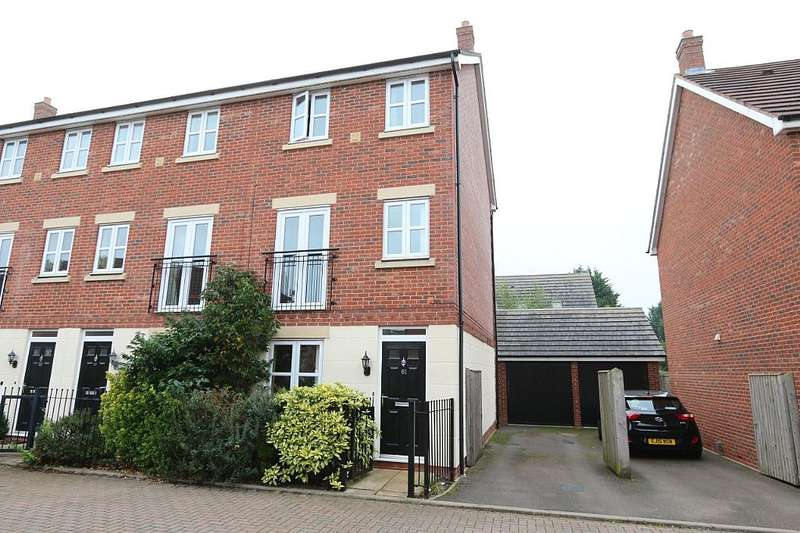 3 Bedrooms Town House for sale in Persimmon Gardens, CHELTENHAM, Gloucestershire, GL51 0UF