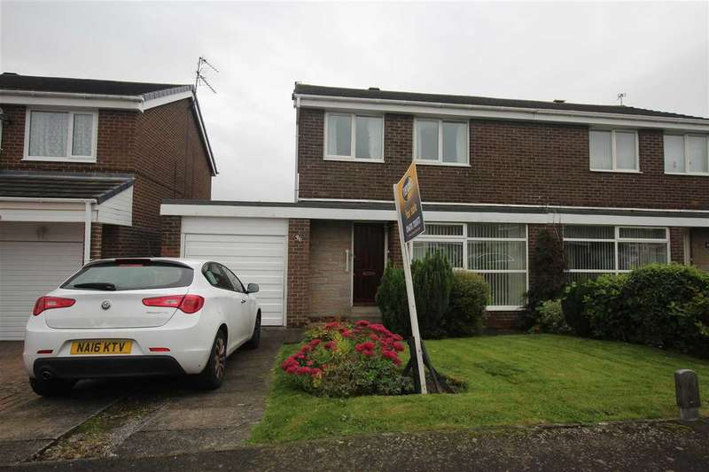 3 Bedrooms Semi Detached House for sale in Northolt Avenue, Parkside Chase, Cramlington