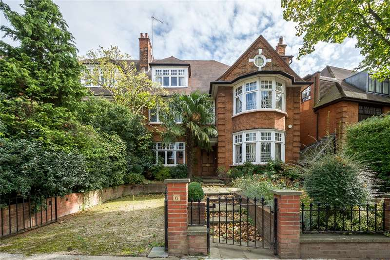 7 Bedrooms Semi Detached House for sale in Rosecroft Avenue, Hampstead, London, NW3