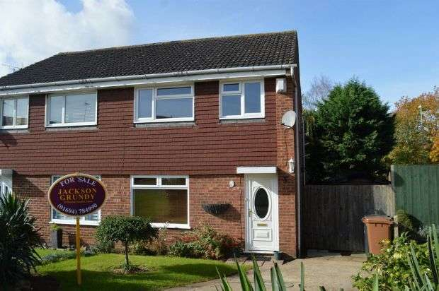 3 Bedrooms Semi Detached House for sale in Cowgill Close, Cherry Lodge, Northampton NN3 8PB