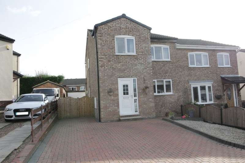 3 Bedrooms Semi Detached House for sale in Greenfield Garth, Kippax, Leeds, LS25