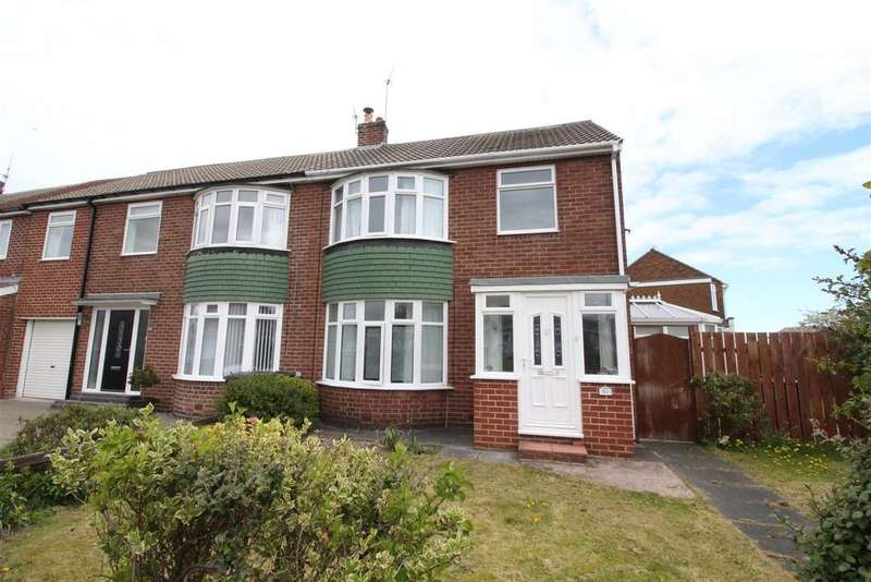 3 Bedrooms Semi Detached House for sale in Shaftesbury Crescent, Marden Farm, North Shields