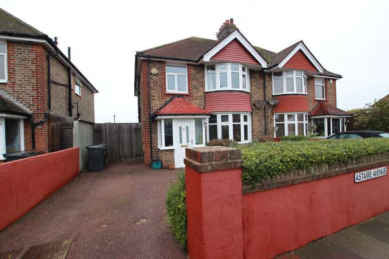 3 Bedrooms Semi Detached House for sale in Astaire Avenue, Eastbourne, BN22 8UP