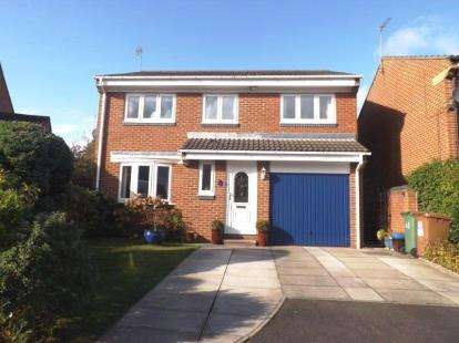 4 Bedrooms Detached House for sale in Redshank Close, Washington, Tyne and Wear, NE38