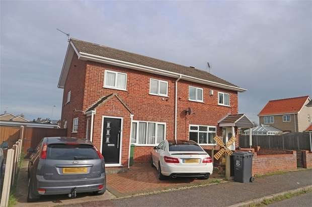 3 Bedrooms Semi Detached House for sale in Bramble Gardens, Belton, Great Yarmouth, Norfolk