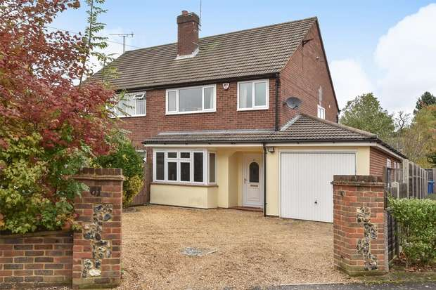 3 Bedrooms Semi Detached House for sale in Church Road East, CROWTHORNE, Berkshire
