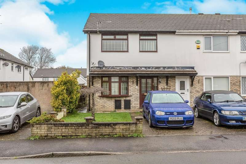 3 Bedrooms End Of Terrace House for sale in Highland Avenue, Bryncethin, Bridgend