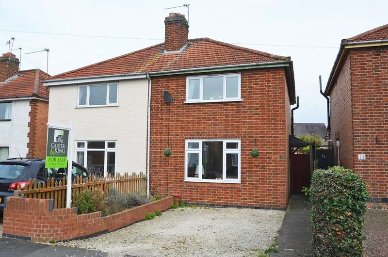 2 Bedrooms Semi Detached House for sale in Naseby Road, Southfields, Rugby