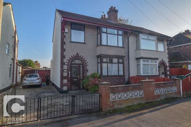 3 Bedrooms Semi Detached House for sale in Carnsdale Road, Moreton, Wirral, Merseyside