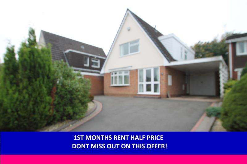 3 Bedrooms Detached House for rent in Naseby Drive, Halesowen, West Midland B63