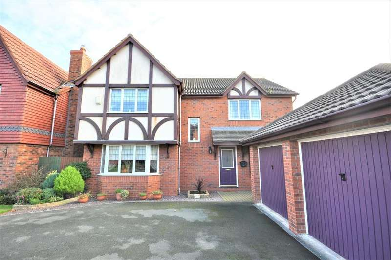 4 Bedrooms Detached House for sale in Sawthorpe Walk, Poulton Le Fylde, Blackpool, Lancashire, FY6 7FX