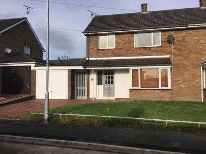 3 Bedrooms Semi Detached House for sale in Ffordd Jarvis, Wrexham, Wrecsam, LL12