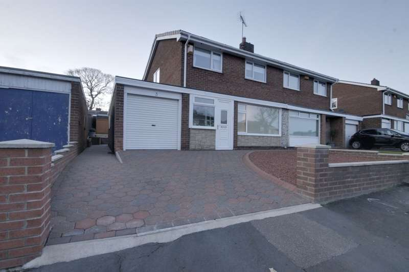 3 Bedrooms Semi Detached House for sale in Mount Park Drive, Lanchester, Durham, DH7