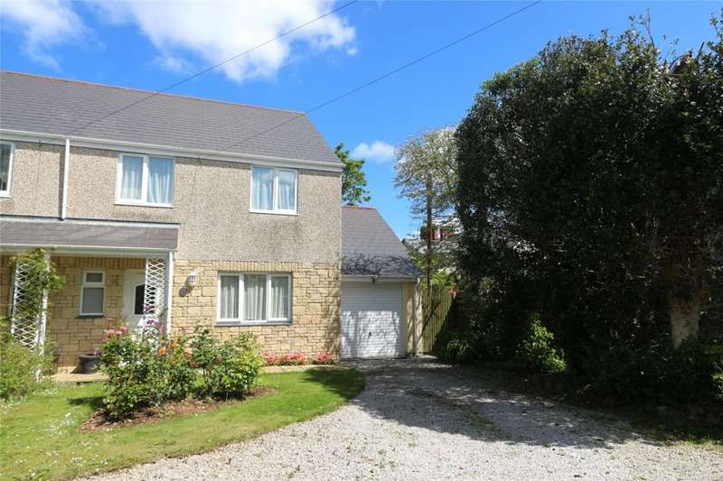 3 Bedrooms Semi Detached House for sale in The Hollies, Trerise Road, Camborne