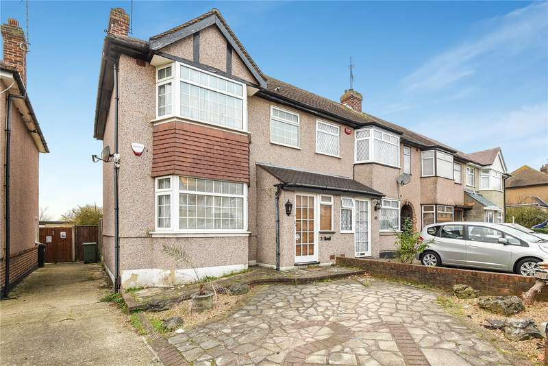 3 Bedrooms End Of Terrace House for sale in Stafford Road, Ruislip Gardens, Middlesex, HA4