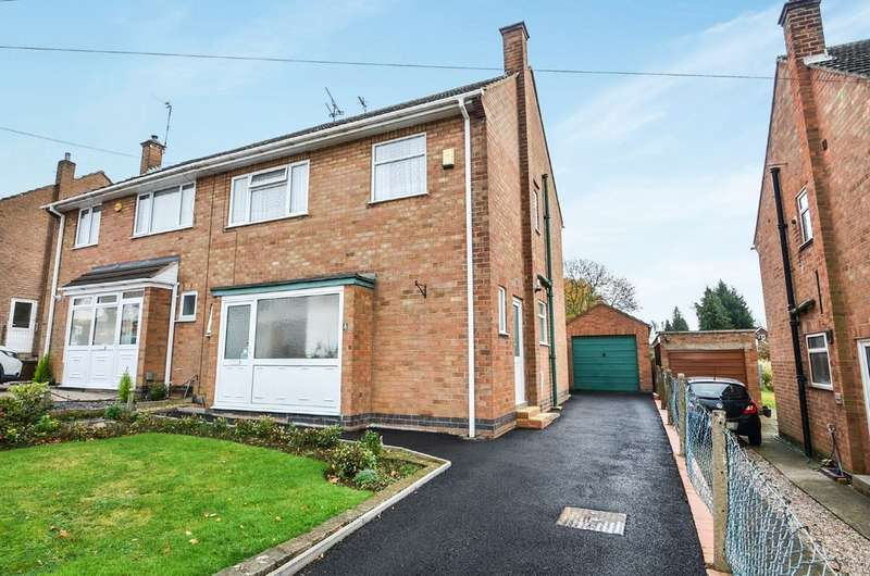 3 Bedrooms Semi Detached House for sale in Ratliffe Road, Shakespeare Gardens, Rugby