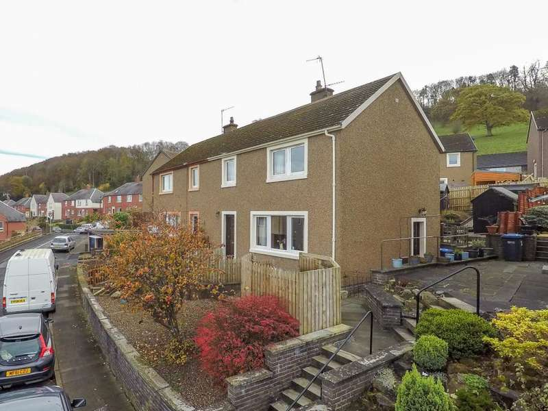 3 Bedrooms Semi Detached House for sale in 32 , Heronhill Crescent Hawick, TD9 9RS