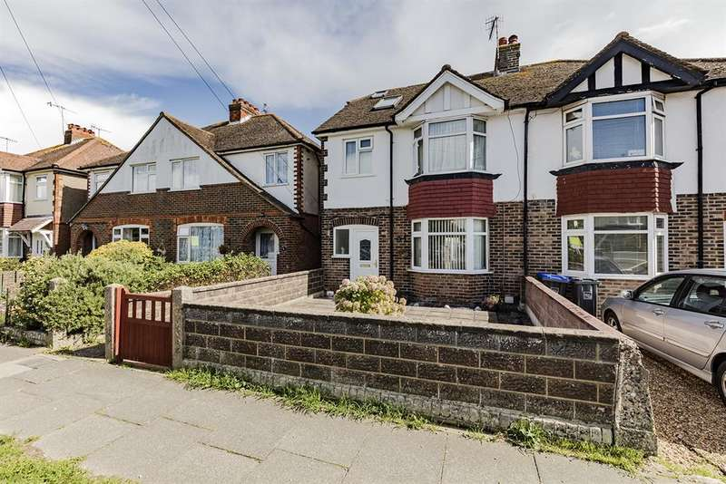 4 Bedrooms Semi Detached House for sale in Grand Avenue, Lancing, West Sussex, BN15 9PX