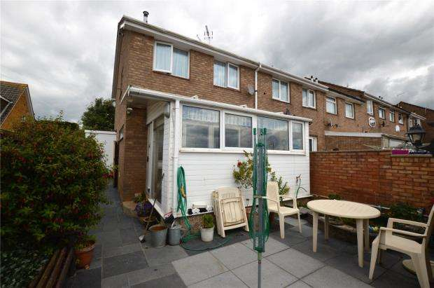 3 Bedrooms End Of Terrace House for sale in Richards Close, Exmouth, Devon