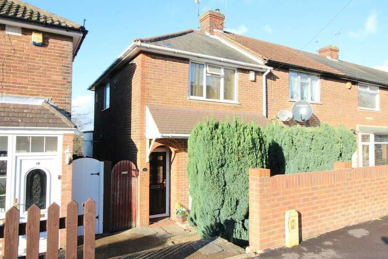 2 Bedrooms End Of Terrace House for sale in Pomfret Avenue, Luton, Bedfordshire, LU2 0JL
