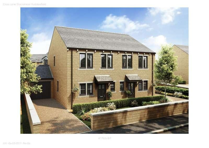 3 Bedrooms Semi Detached House for sale in The Shepley Stocksmead, Cross Lane , Stocksmoor, HD4