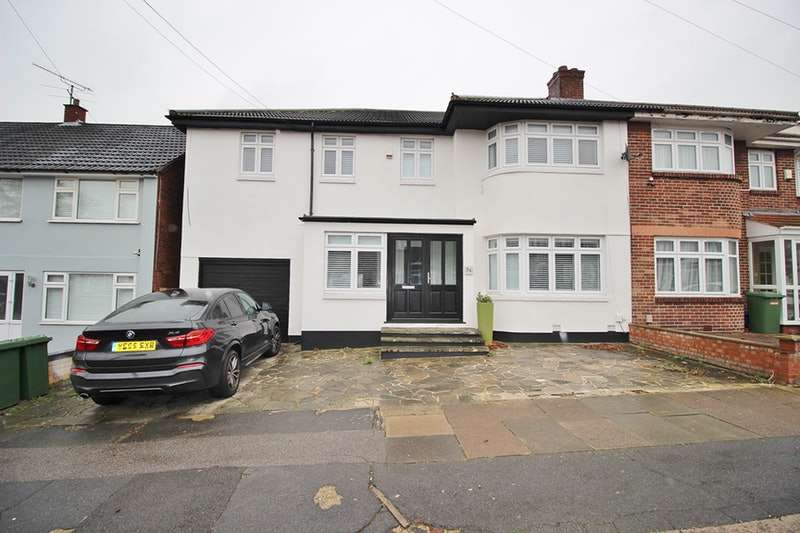 5 Bedrooms Semi Detached House for sale in Abbotswood Gardens, Ilford, London, IG5