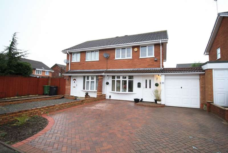 3 Bedrooms Semi Detached House for sale in Foxglove, Tamworth, Staffordshire, B77