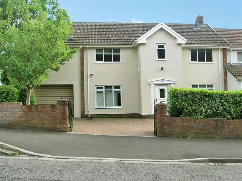 4 Bedrooms Semi Detached House for sale in Celyn Avenue, Lakeside, Cardiff