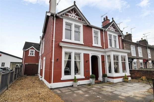 4 Bedrooms Detached House for sale in Crewe Road, Alsager, Stoke-on-Trent, Cheshire