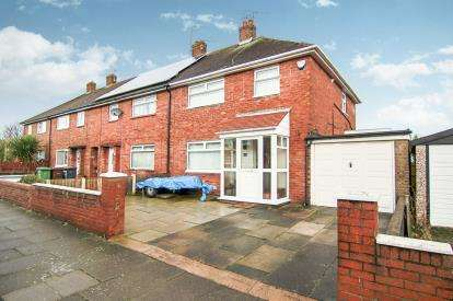 3 Bedrooms End Of Terrace House for sale in Poulsom Drive, Bootle, Liverpool, Merseyside, L30