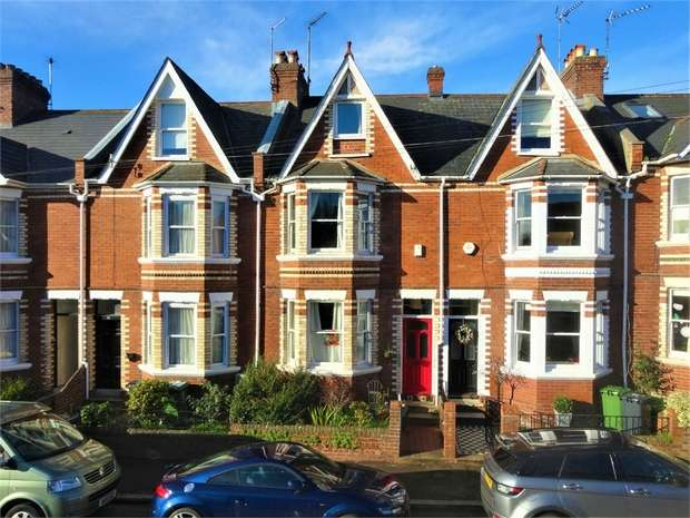 4 Bedrooms Terraced House for sale in Athelstan Road, St Leonards, EXETER, Devon