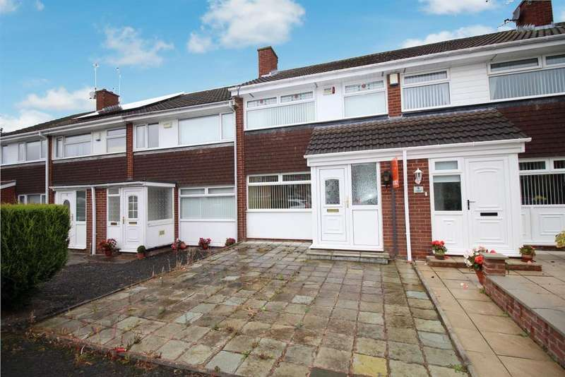3 Bedrooms Terraced House for sale in Cosford Court, Kingston Park, Newcastle Upon Tyne