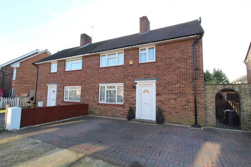 3 Bedrooms Semi Detached House for sale in Portland Crescent, Feltham/Ashford borders, TW13