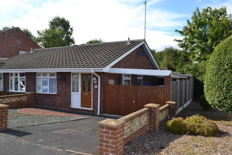 2 Bedrooms Semi Detached Bungalow for sale in Chaffinch Close, Hednesford, Cannock