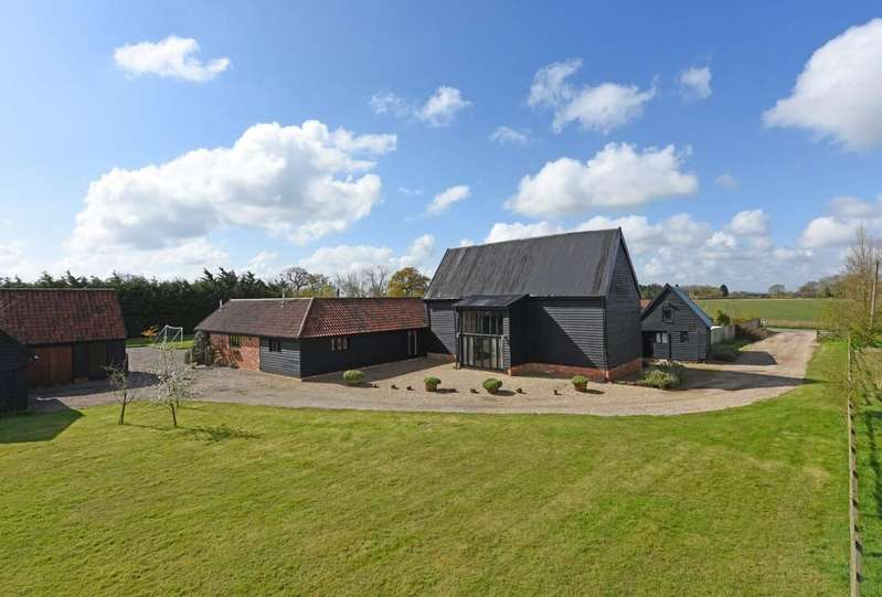 5 Bedrooms Barn Conversion Character Property for sale in Bedingfield, Nr Debenham, Suffolk