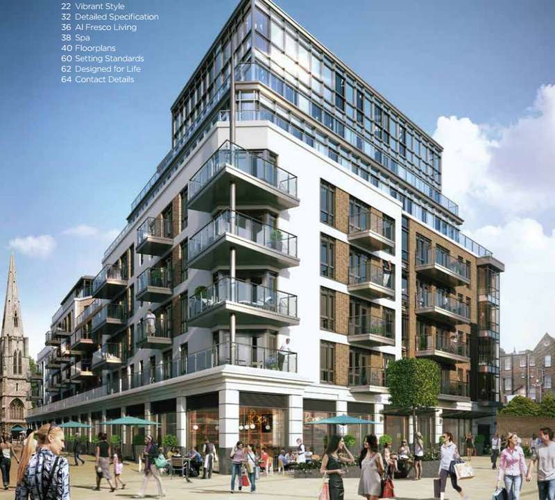 2 Bedrooms Apartment Flat for sale in Fitzroy Apartments, Dickens Yard, New Broadway, Ealing