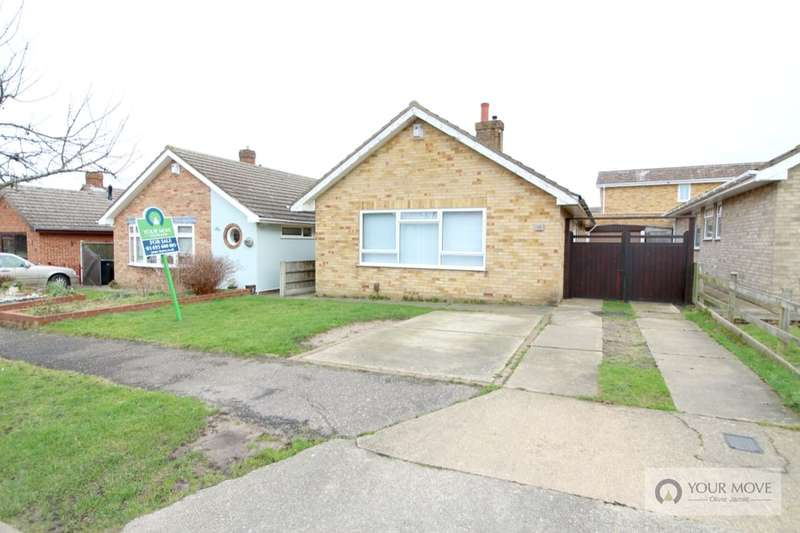 2 Bedrooms Detached Bungalow for sale in Yew Tree Close, Bradwell, Great Yarmouth, NR31