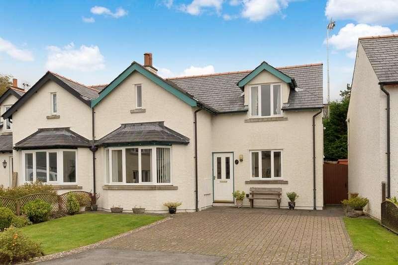3 Bedrooms Semi Detached House for sale in 7 Stoneleigh Court, Silverdale, Carnforth, Lancashire. LA5 0UR