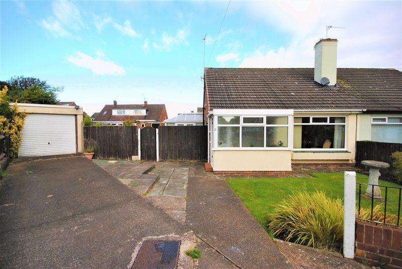 2 Bedrooms Semi Detached Bungalow for sale in Bradda Close, Upton