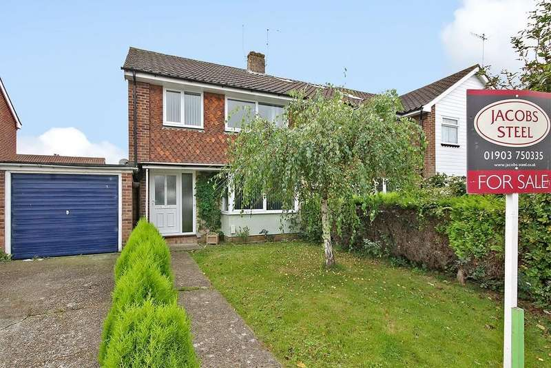 3 Bedrooms Semi Detached House for sale in Rogate Close, Sompting, BN15