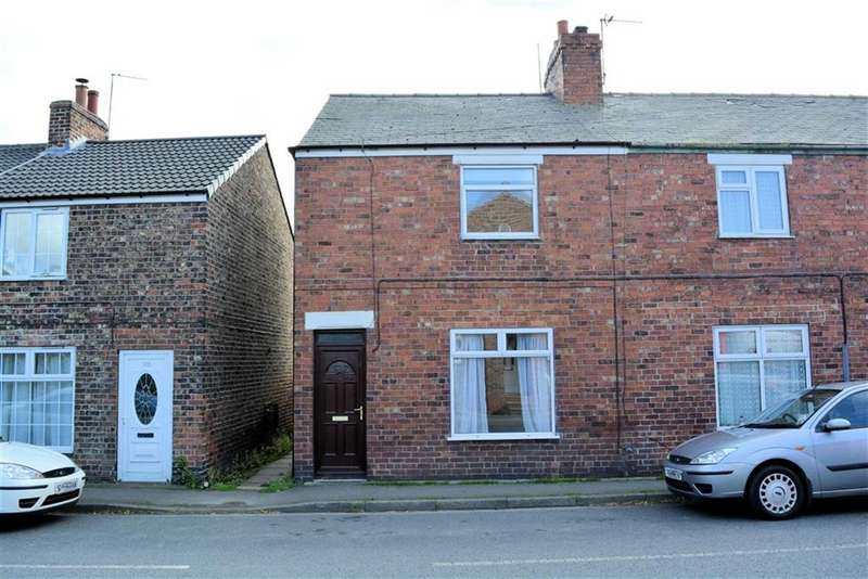 2 Bedrooms End Of Terrace House for sale in Main Road, Drax, YO8