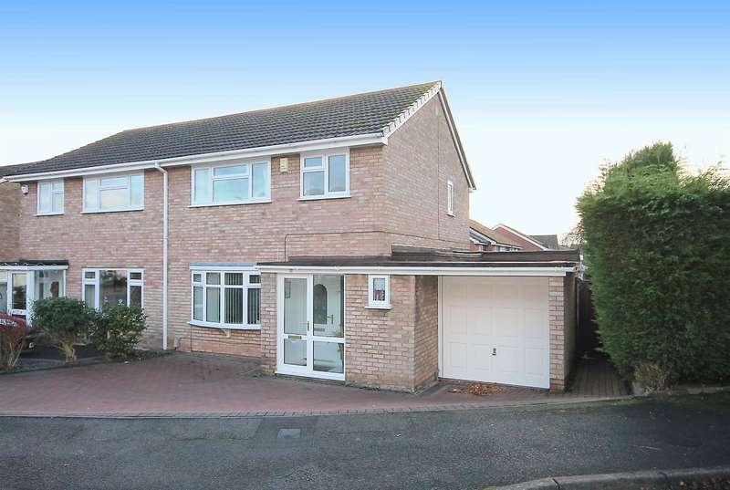 3 Bedrooms Semi Detached House for sale in Kingston Close, Perrycrofts,Tamworth, B79 8TT