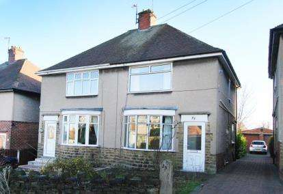 2 Bedrooms Semi Detached House for sale in Clarkson Avenue, Chesterfield, Derbyshire