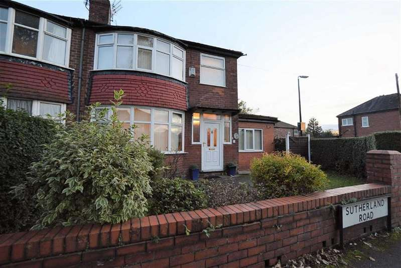 4 Bedrooms Semi Detached House for sale in Sutherland Road, FIRSWOOD, Manchester