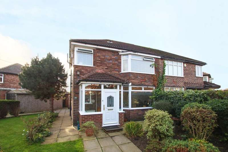 3 Bedrooms Semi Detached House for sale in Newcroft Road, Urmston, Manchester, M41