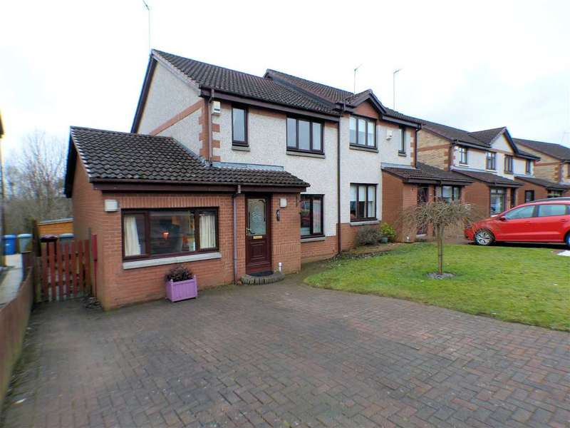 4 Bedrooms Semi Detached House for sale in Dunnottar Crescent, Stewartfield, EAST KILBRIDE